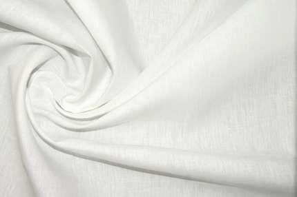 Лён белый плательно-костюмный