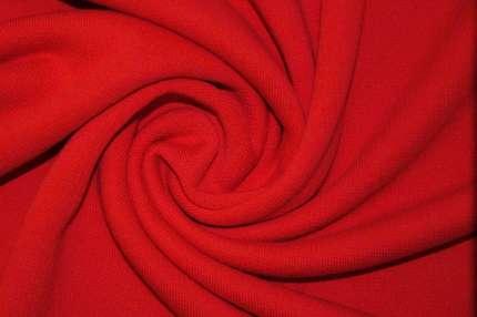 Трикотаж футер хлопковый красный