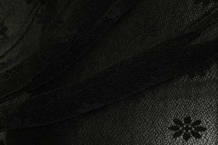 Гипюр стрейч черный