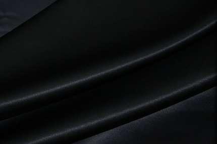 Атлас шелковый темно-синий