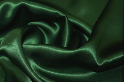 Атлас шелковый зелёный