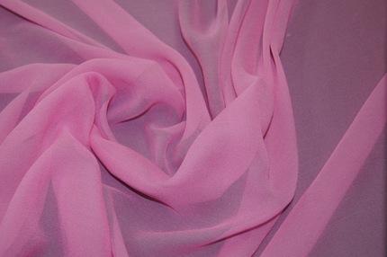 Шифон шелковый розовый
