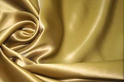 Атлас шелковый золотистый