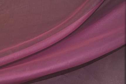 Органза шелковая розово-фиолетовая