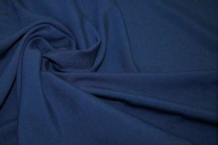 Крепдешин синий