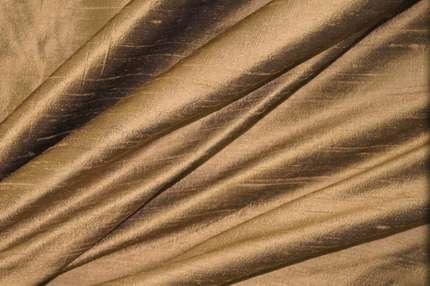 Дикий шелк дюпион (шантунг) цвета табака
