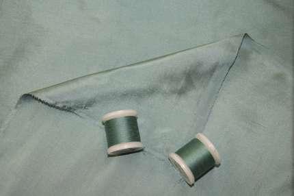 Дикий шёлк дюпион (шантунг) пыльный бирюзовый