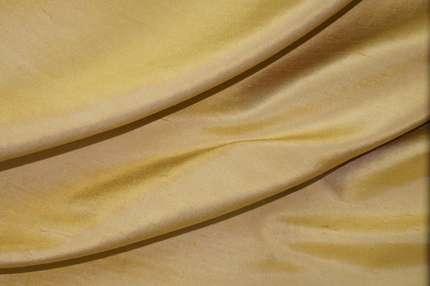 Дикий шёлк шантунг (дюпион) золотистый
