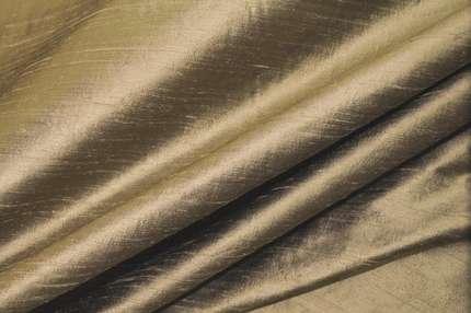 Дикий шелк дюпион (шантунг) золотисто-горчичный