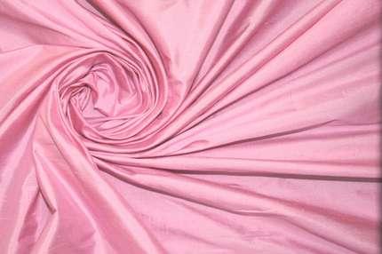 Дикий шелк дюпион (шантунг) розовый