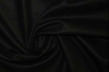 Шерсть пальтовая черная