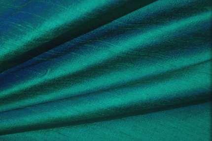 Дикий шёлк дюпион (шантунг) бирюзовый хамелеон