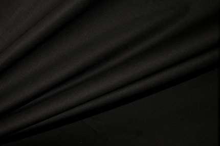Батист хлопковый чёрно-коричневый