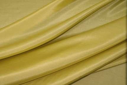 Батист шёлковый цвет светлая горчица