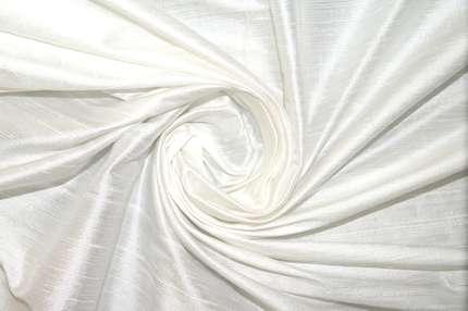 Дикий шелк дюпион (шантунг) белый