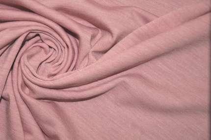 Трикотаж шерстяной пепельно-розовый
