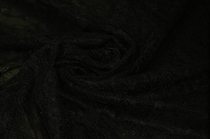 Гипюр черный