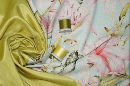 Ткань шелковая Spun Silk