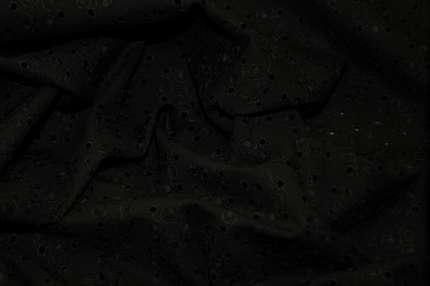 """Батист  с вышивкой """"ришелье"""" черный (шитьё)"""