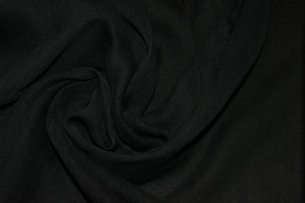 Тюль хлопковый черный