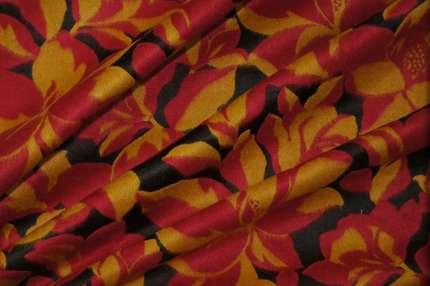 Костюмная ткань шёлк с шерстью