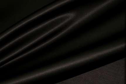 Сатин шелковый черный