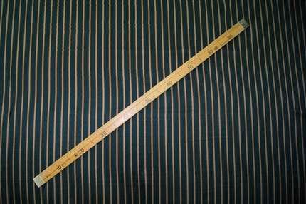 Атлас стрейч шелковый полоска