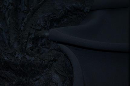 Кади стрейч шелковый синий