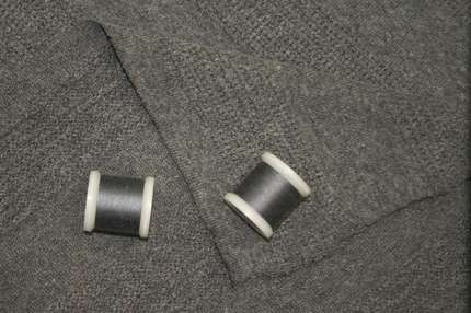 Трикотаж фактурный серый