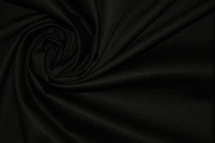 Сатин хлопковый черный