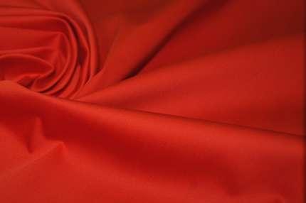 Сатин хлопковый стрейч красный
