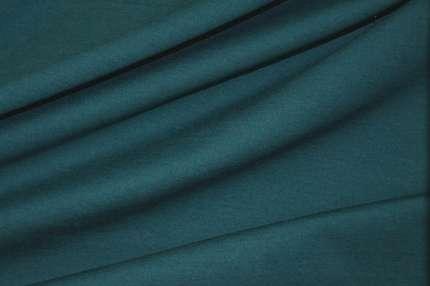 Трикотаж футер хлопковый тёмно-бирюзовый