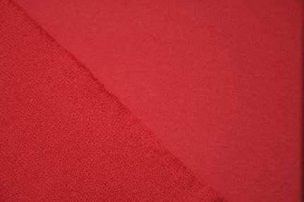 Трикотаж хлопковый футер красный