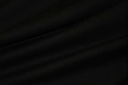 Трикотаж футер хлопковый черный