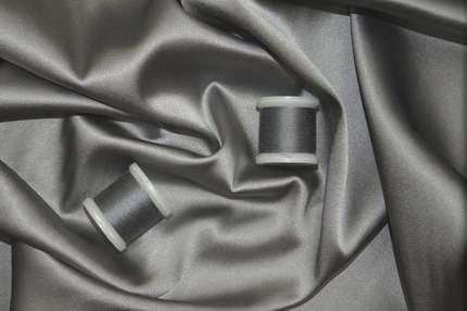 Атлас стрейч шелковый серый