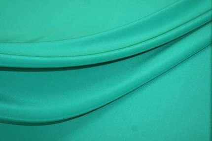 Крепдешин шелковый бирюзовый