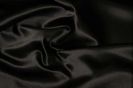 Сатин шелковый чёрный