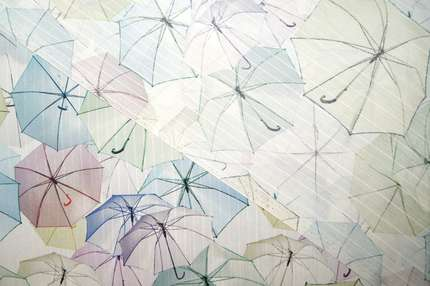 "Шелковый жаккард ""Зонтики"""