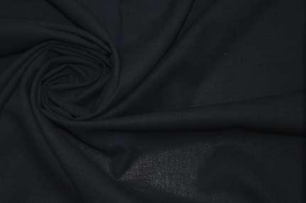 Шерсть плательно-костюмная темно-синяя тонкая