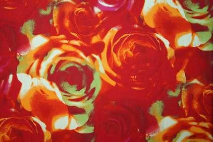 """Хлопок с напылением """"Розы"""""""