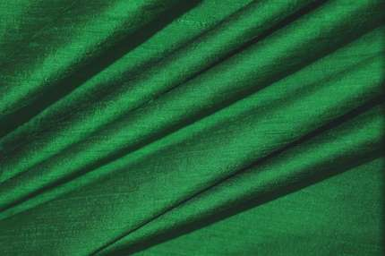 Дикий шелк дюпион (шантунг) ярко-зелёный
