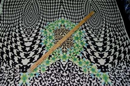 Атлас шелковый набивной (купон)