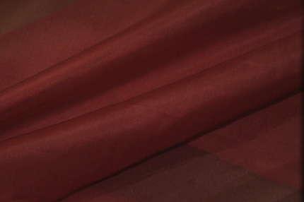 Органза шелковая бордовая