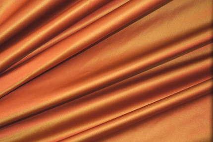 Атлас шелковый корсетный оранжевый