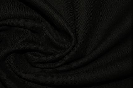 Шерсть черная диагональ стрейч