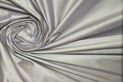 Тафта шелковая серебристо-лавандовая