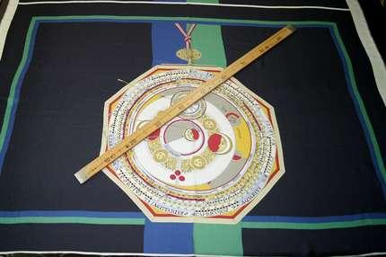Саржа шелковая (твилл) купон
