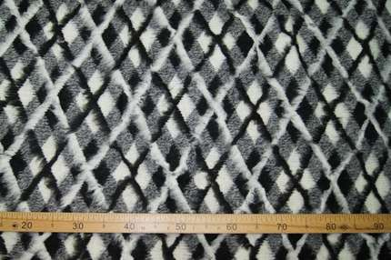 Трикотаж шерстяной двухсторонний лоден клетка