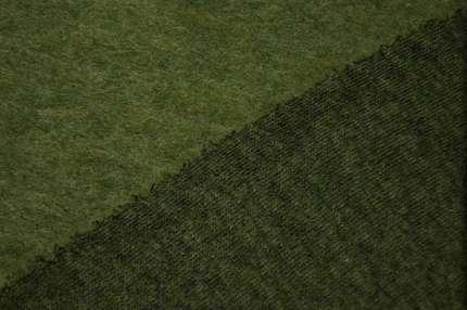 Лоден шерстяной зелёный