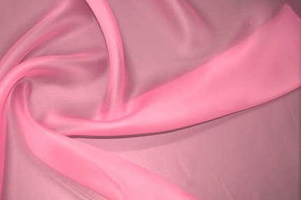 Органза шёлковая розовая атласная